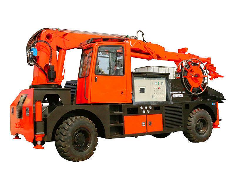 wet concrete spraying machine robot shotcrete pump truck