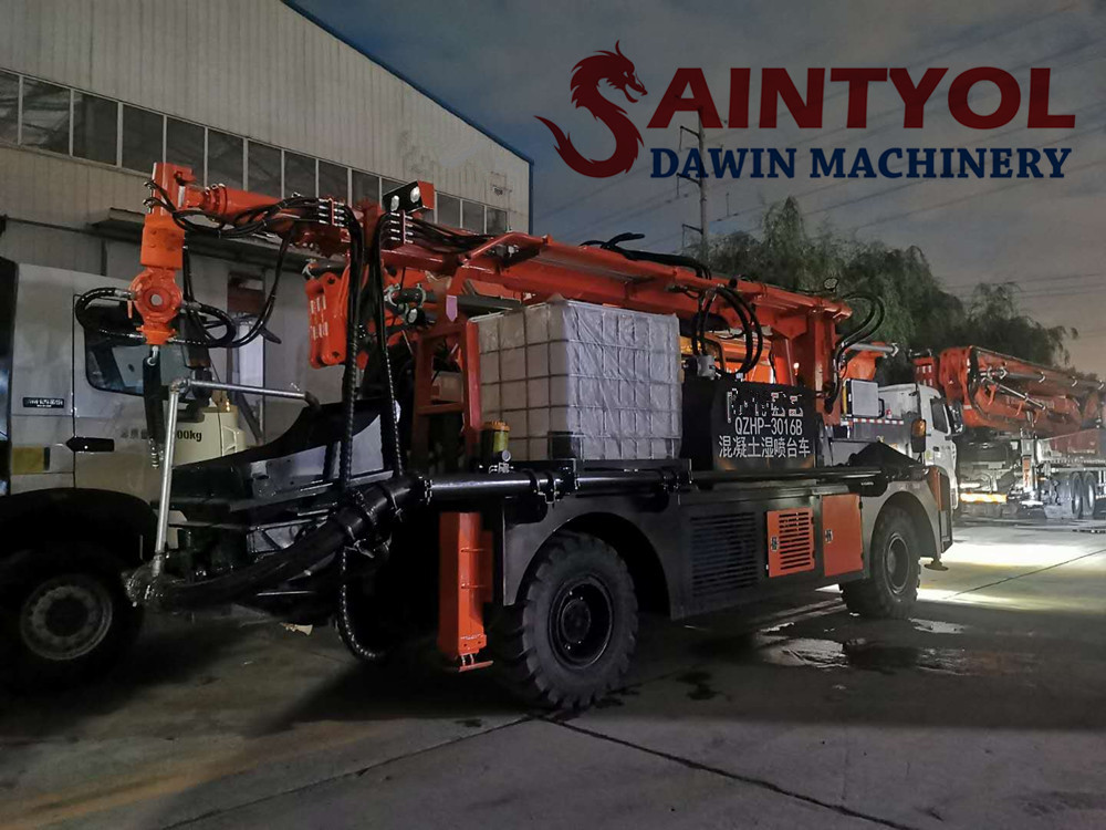 truck mounted concrete spraying machine