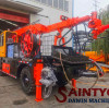 Double nozzle hydraulic wet spraying machine is a new type of pumping concrete wet spraying machine.