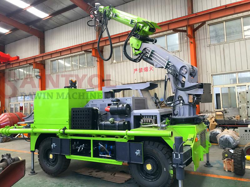 truck mounted concrete spray machine
