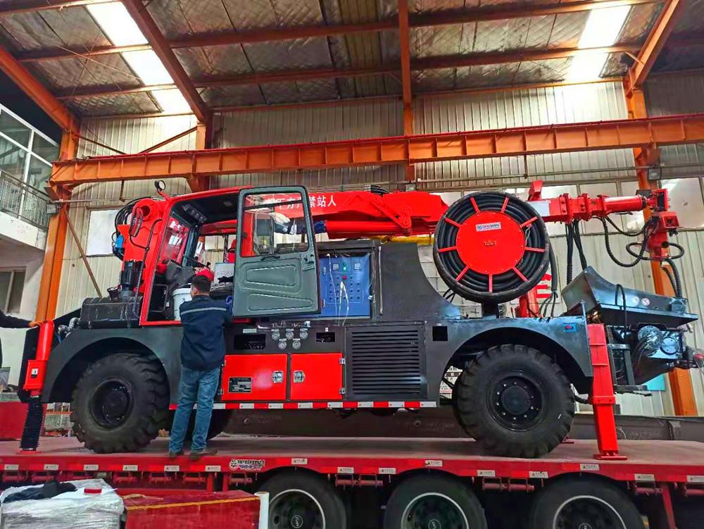 truck mounted concrete spraying machine china supplier
