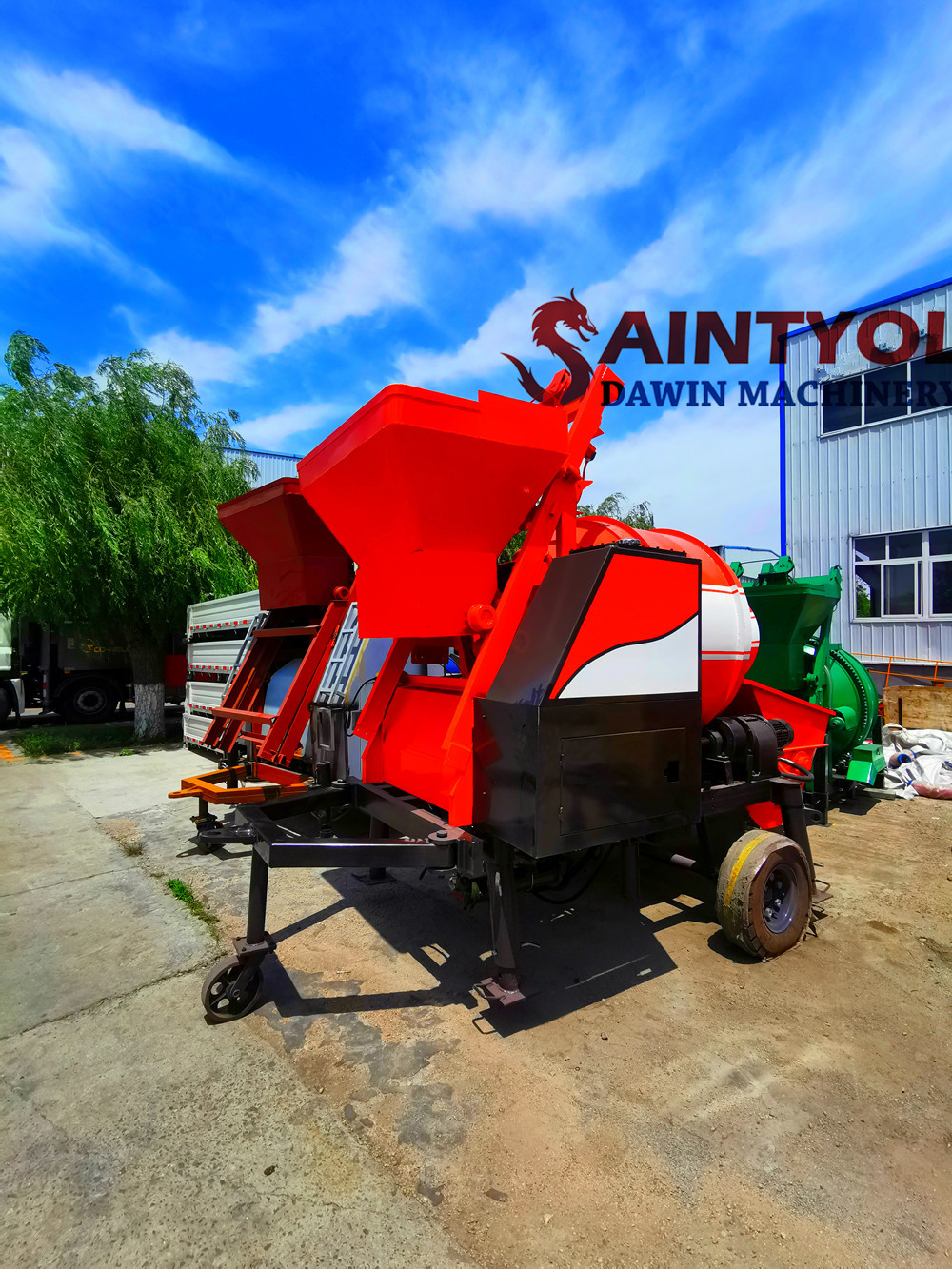 trailer concrete mixing pump china