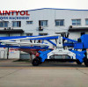 Is the hydraulic system of the concrete placing boom a hydraulic cylinder?