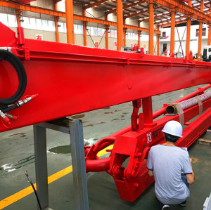32m 4 Sections Column Tower Hydraulic Jack-Up Concrete Placing Boom, Self Climbing Concrete Placing Boom