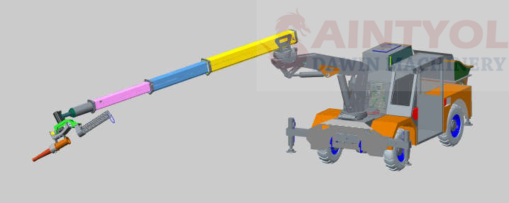 concrete robot spraying machine shotcrete pump