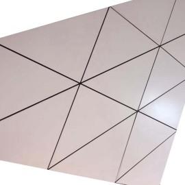 Architectural aluminum plain panel exterior ceiling paneling laminates