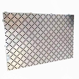 Aluminum fluorocarbon veneer with protective round hole for apartment curtain wall