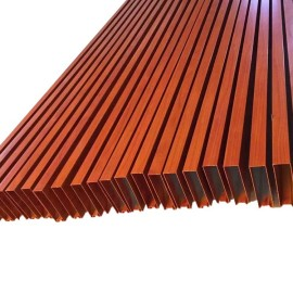 Brown color Aluminum rectangular tube for ceiling