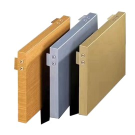 Fluorocarbon aluminum veneer for decorative curtain wall and ceiling coating