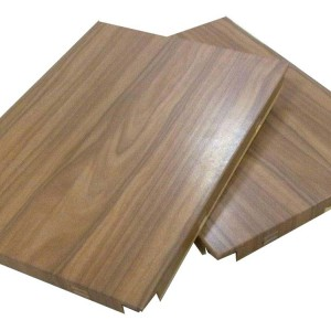 wooden pattern aluminum single panels wall cladding used for Mall decoration