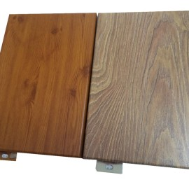 2mm sales office aluminum veneer/Wood grain transfer aluminum buckle plate/School exterior decorative aluminum flat