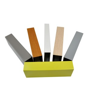 Aluminum rectangular tubing with design shaping