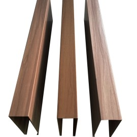 Wood imitation 0.5 forming round aluminum tube into rectangular tube