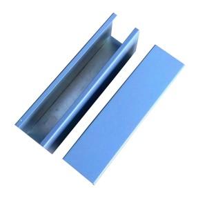 Aluminum extrusion rectangular tube with well designed shape