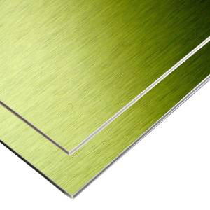 Fire proof Shop aluminium  composite plastic ACP plate