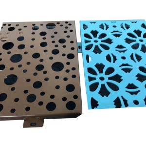 Porous shaped decorative aluminum plate for exterior cladding wall