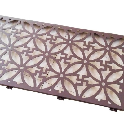 Laser cut CNC  aluminum sheet for gallery partition