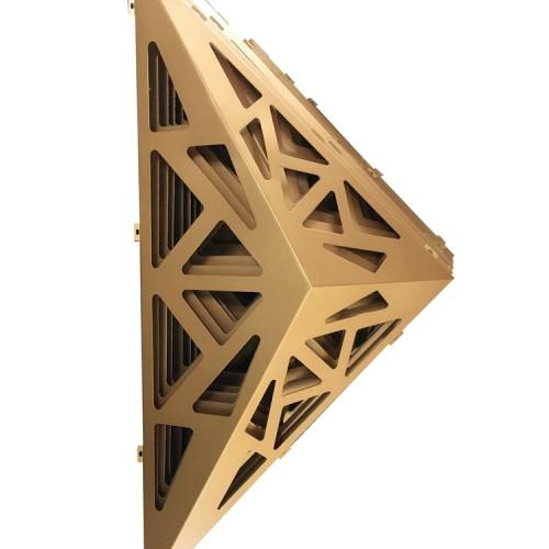 客户定制售楼处门头造型铝板