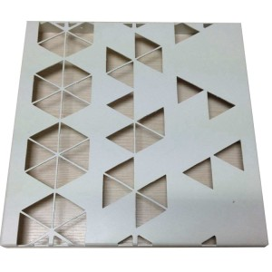 Painting coated/powder PVDF coated laser cutting solid aluminum panel sheet for decoration for sales