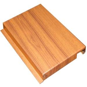 wood like facade panels imitation wood wall aluminum decoration materials
