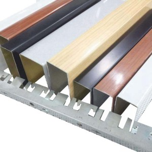 Wholesale Aluminum alloy outer wall Indoor strip ceiling aluminum square pass