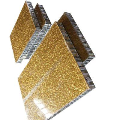 Aluminum honeycomb sandwich 3D facade wall panels