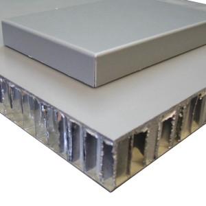 aluminum backed honeycomb ceiling composite panels