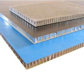 Aluminum honeycomb core sandwich 3D facade wall panels