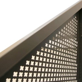 Perforated  metal sheet with different hole patterns