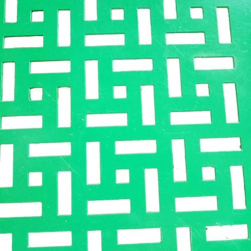 Perforated  decorative metal sheet grating