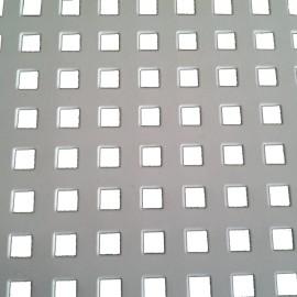 Embossed perforated sheet metal for flooring