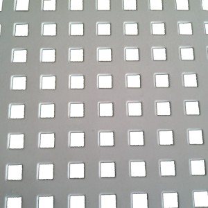 Embossed perforated sheet metal for flooring