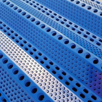 Silver color perforated aluminium wall panels with types holes