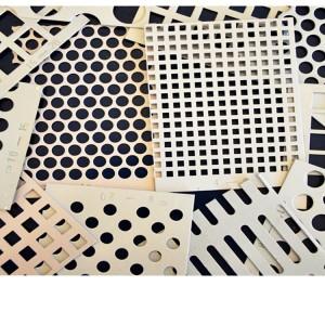 2.5mm ceiling aluminum plate Closely punched aluminum veneer Perforated shape arranged aluminum ceiling