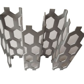 Aluminum laser cut perforated exterior facade panels for building