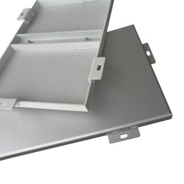 Office building renovation facade wall panels/metallic decoration panels for hall/Dark grey aluminum wall plate