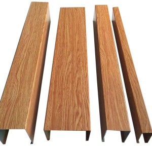 aluminium wooden patern hollow rectangular sections
