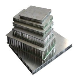 Aluminium roofing facade sheets with honeycomb core