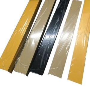 Extruded aluminum rectangular tubing with wooden imitation treatment