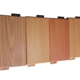 China aluminum Imitation wood grain exterior curtain wall panels