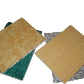 Imitation wood grain pattern aluminum honeycomb facade curtain wall panels