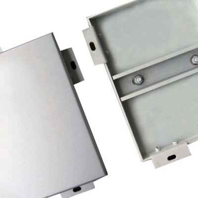 China supplier factory electrostatic spraying aluminum single plate for Exterior wall decoration