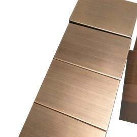 Aluminum metal brushed exterior wall cladding
