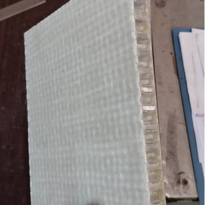 Gel Coated Fiberglass/Heat insulation FRP Honeycomb Panels with 6.4mm cell core For Light Weight Trailer Body