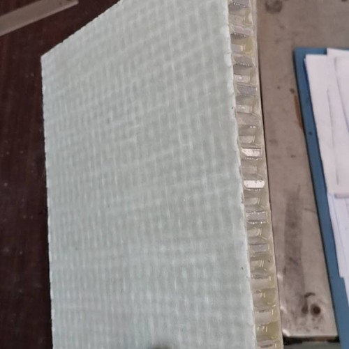 ALUMINUM HONEYCOMB PANEL / FIBERGLASS / FOR THE BUILDING INDUSTRY