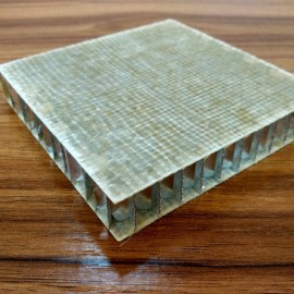 Glass fiber assembly-filled honeycomb sandwich panels for exterior cladding