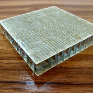 Light weight fiberglass composite honeycomb panels for floor