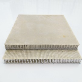 Cladding fiberglass honeycomb composite sheets and panels