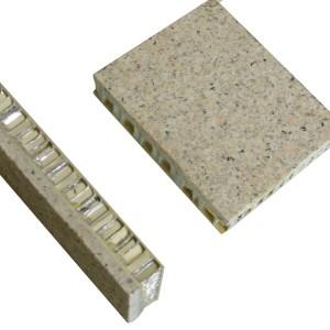 Stone exterior Fiberglass honeycomb core panel for wall cladding