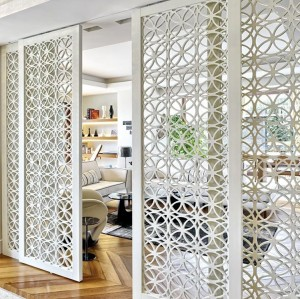 aluminium partition with frame for office